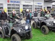 Kawasaki Testfahren bei Regen und Schnee: Am Samstag, den 22. März 2014, fand die Präsentation des Schweizer Generalvertreters noch im Trockenen statt
