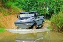 Deutschland Import für Gibbs Quadski: Amphibienfahrzeug Humdinga auf Hummer-Basis mit 350 PS starkem Triebwerk