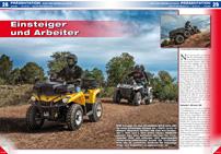 ATV&QUAD Magazin 2014/05-06, Seite 28-29; Präsentation Can-Am Modelle 2015: Einsteiger und Arbeiter