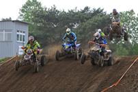 DMX Deutsche MotoCross Quad Meisterschaft 2014, 2. Lauf in Wriezen: Oliver Vandendijk (7), Jan Hoormann (184) und Alexander Norskov (44); Foto: Natan Prokes