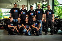 Eröffnung in Neumarkt am 21. Juni 2014: das Team von Bader Quadsport