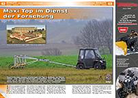 ATV&QUAD Magazin 2014/07-08, Seite 62-63, Einsatz Archäologie: Maxi Top im Dienst der Forschung