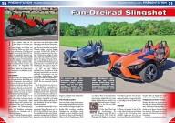 ATV&QUAD Magazin 2014/09-10, Seite 20-25, Präsentation Polaris Modelle 2015: Fun-Dreirad Slingshot, ATVs, SxS & UTVs 2015