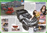 ATV&QUAD Magazin 2014/09-10, Seite 82-83, Szene Deutschland PLZ 6M QJC-PowerSportCenter: American Summer-Party 2014; Mina MacB: Wash & Dance