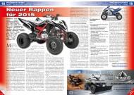 ATV&QUAD Special 2015 Ausrüstung • Zubehör • Tuning, Seite 18-19, Präsentation Yamaha YFM 700R: Neuer Rappen für 2015
