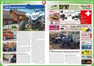 ATV&QUAD Special 2015 Ausrüstung • Zubehör • Tuning, Seite 98-99, Szene Schweiz; HuberTech: Der Einsatz-Spezialist; Conrey: Winterdienst-Spezialumbauten