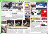 ATV&QUAD Magazin 2014/11-12, Seite 84-85, Szene Schweiz / Italien; HB-Adventure Switzerland: Heisse Drifts auf Eis; Dominik Cattin, freie s(Stunt?) Training: Uuuuups!; Swiss-Moto in Zürich: Tuning-Messe
