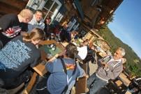 Quadtour auf den Großglockner: traditionelle Benzingespräche bei der Quadomania auf der Panorama Alm in 1.650 Meter Seehöhe