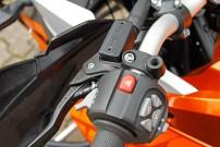 E.-ATV 1190 Adventure: vielfältige elektronische Helferlein, die ergonomisch vom Lenker aus zu bedienen sind