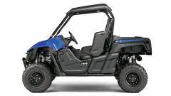 Yamaha Wolverine R in 'Yamaha Blue': sportliches Chassis mit langen Federwegen und hoher Bodenfreiheit