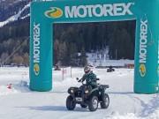 Quadfahren auf Eis in Davos 2015: Fahrzeuge mit diversem Zubehör konnten getestet werden – Arctic Cat, CF Moto, Kymco und Yamaha