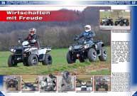 ATV&QUAD Magazin 2016/03-04, Seite 36-43, Vergleichstest 570 Kubik Utility ATVs - Can-Am Outlander L 570 Pro vs. Polaris Sportsman 570 EPS: Wirtschaften mit Freude