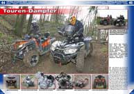 ATV&QUAD Magazin 2016/03-04, Seite 44-49, Vergleichstest 800 Kubik Touren-ATVs - Access AMX 8.57 vs. CF Moto CForce 800: Touren-Dampfer