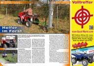 ATV&QUAD Magazin 2016/03-04, Seite 62-63, Einsatz in der Forstwirtschaft: Helfer im Forst