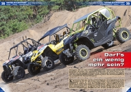ATV&QUAD Magazin 2016/05-06, Seite 38-47, Vergleichstest Can-Am Maverick X ds Turbo vs. Polaris RZR XP Turbo vs. Yamaha YXZ 1000R