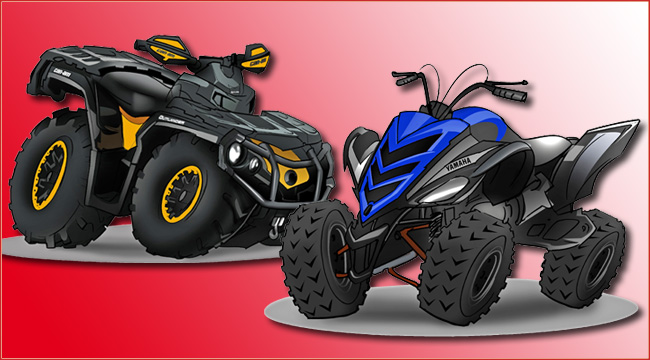 fun sticker atvs und quads zum aufkleben atv quad magazin. Black Bedroom Furniture Sets. Home Design Ideas