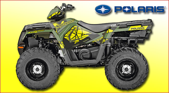 engbers polaris sportsman yellow flash zu gewinnen atv quad magazin. Black Bedroom Furniture Sets. Home Design Ideas